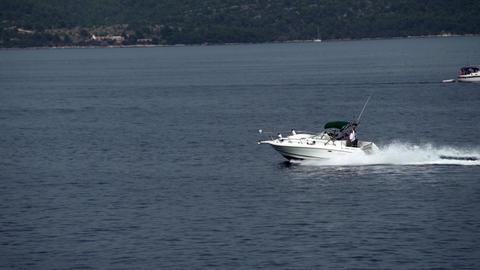 Motorboat on the Adriatic Sea Footage