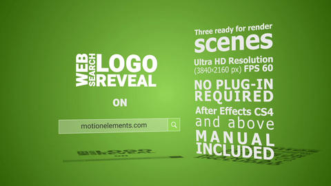 Web Search Logo Reveal After Effects Template