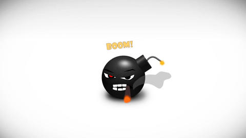 Cartoon Bomb Logo After Effects Template
