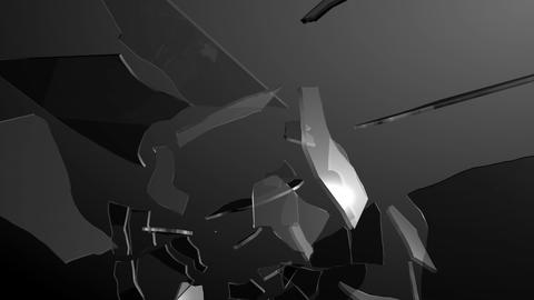 Glass destructing Animation