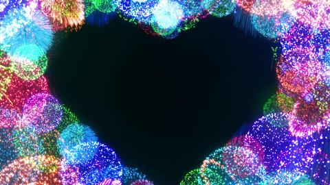 Fireworks Festival 5 Heart L 1 4k Animation