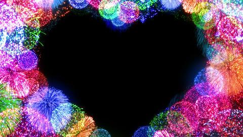 Fireworks Festival 5 Heart L op 1 4k CG動画