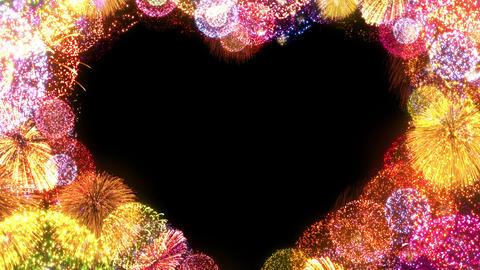 Fireworks Festival 5 Heart L op 2 4k Animation