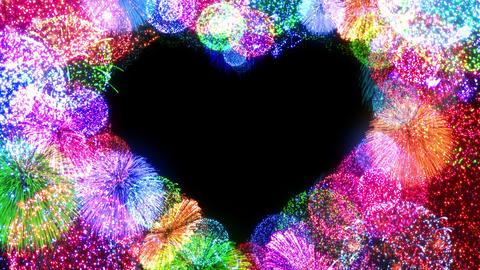Fireworks Festival 5 Heart op1 4k Animation