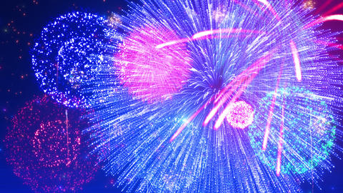 Fireworks Festival 5 A2 4k Animation