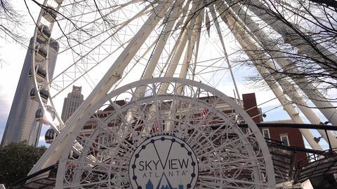 Atlanta Skyview Ferris Wheel in Downtown - ATLANTA, GEORGIA - APRIL 21, 2016 Live Action