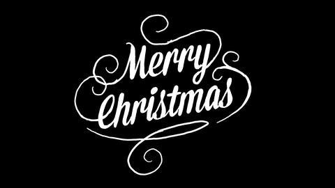 merry christmas logo, designed in chalkboard drawing style, animated footage Live Action