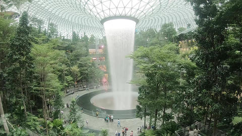 The state of indoor Singapore Singapore Changi Airport Live Action