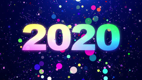 2020 New Year Countdown Colorful Particles Animation Animation