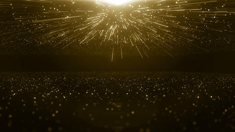 Particles gold bokeh glitter awards dust abstract background loop Videos animados