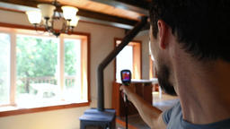 Indoor damp and air quality IAQ testing Footage