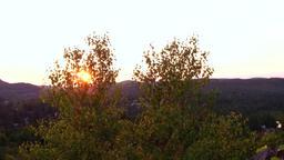 Mountain top horizon at sunset Footage