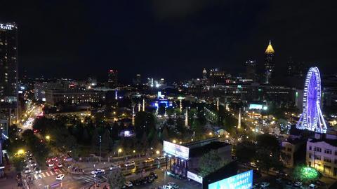 Atlanta skyline at night - rooftop view from Downtown - ATLANTA / GEORGIA - APRI Live Action