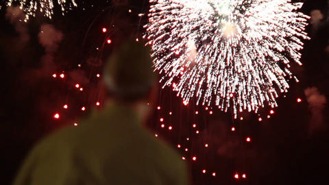 Fireworks. Salute in honor of the great Patriotic War .9 may Filmmaterial