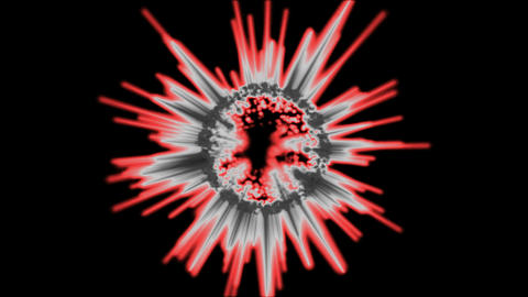 Abstract Rotating Spiky Sphere Animation - Loop Red Animation