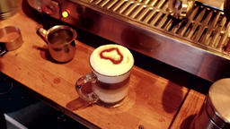 Brewing a cappuccino Live Action