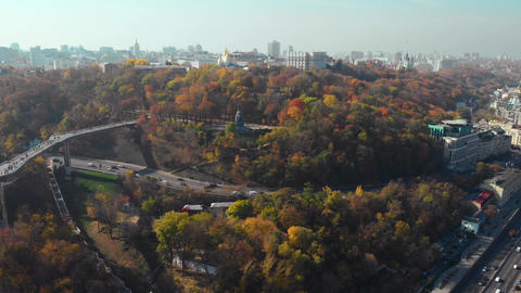 Kiev City the capital of Ukraine at autumn time Live Action
