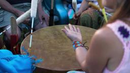 Sacred drums at spiritual singing group Live Action