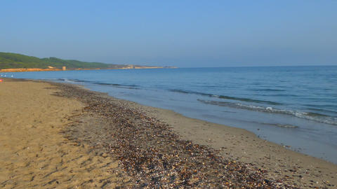 Landscape of the beach in the summer Footage