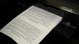 Ink printer prints the house rental contract, document 3 Footage