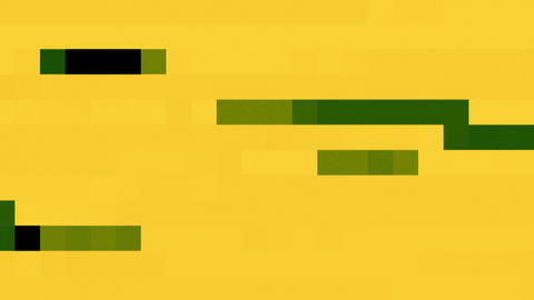 Running Green Black Geometrical Dots Rectangles Background On Yellow For Logo Animation