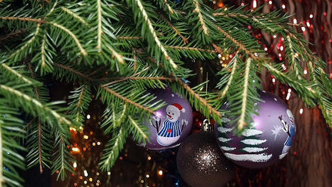 Christmas Decorations on The Christmas Tree Footage
