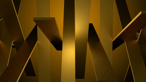 Abstract background of rotation gold boxes with reflecting Animation
