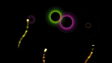 Triangles fireworks Animation