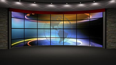 News TV Studio Set 211- Virtual Background Loop Live Action
