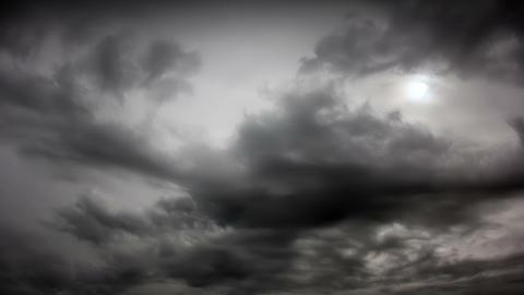 Dark clouds run Footage