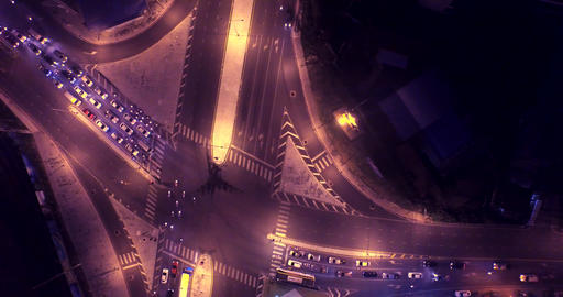 areial view Phuket intersection Footage