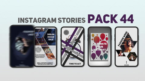 Instagram Stories Pack 44 After Effects Template