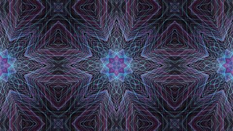 Animation Mandala. Round abstract geometric pattern Footage