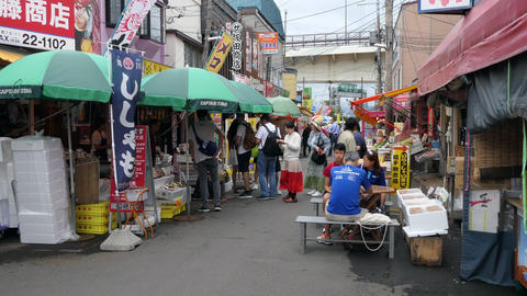 Visitors At Fish Market In Hakodate Hokkaido Japan Asia Archivo