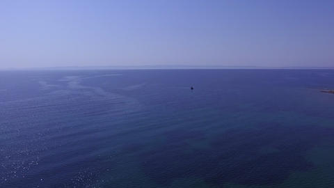 Aerial drone footage of beautiful blue opened sea Footage