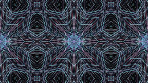 Round abstract geometric pattern. Mandala Footage