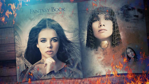 Fantasy Book Opener Slideshow ME After Effects Template