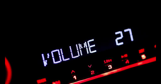 Car radio volume up Live Action
