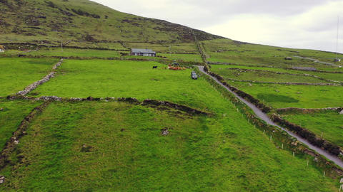 Beautiful aerial view of Valentia Island. Locations worth visiting on the Wild Footage