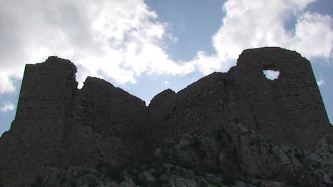 Ancient Castle and Clouds - Time lapse Footage