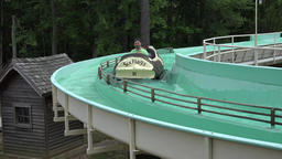Amusement Park Flume Ride Footage