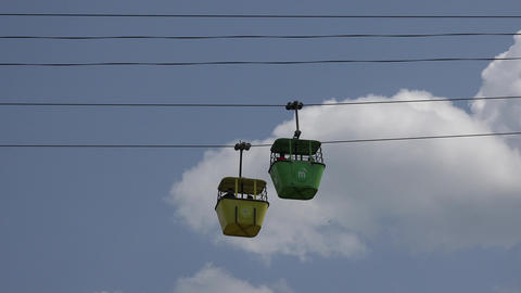 Amusement Park Cable Car Footage