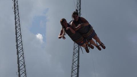 Bungee Cord Amusement Park Ride Live Action