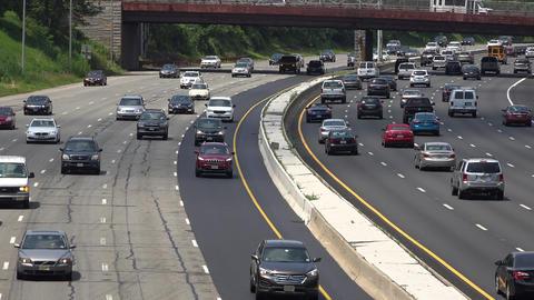 Heavy Traffic on Interstate Highway Footage