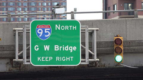 Interstate Highway and Bridge Sign Live Action