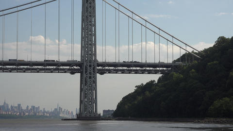 Tower of Suspension Bridge Footage