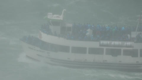 Ferry Boat in Misty Weather Live Action