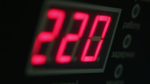Digital timer countdown on UPS device, normal voltage Footage