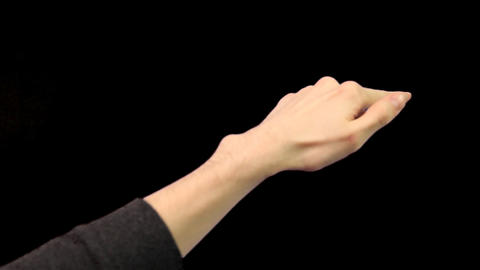Touch screen gestures pre-keyed for iphone or android tablet pc Footage