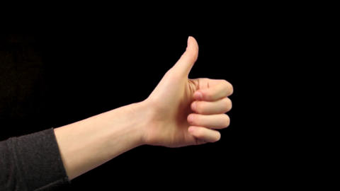 Thumb up, thumb down gestures Footage